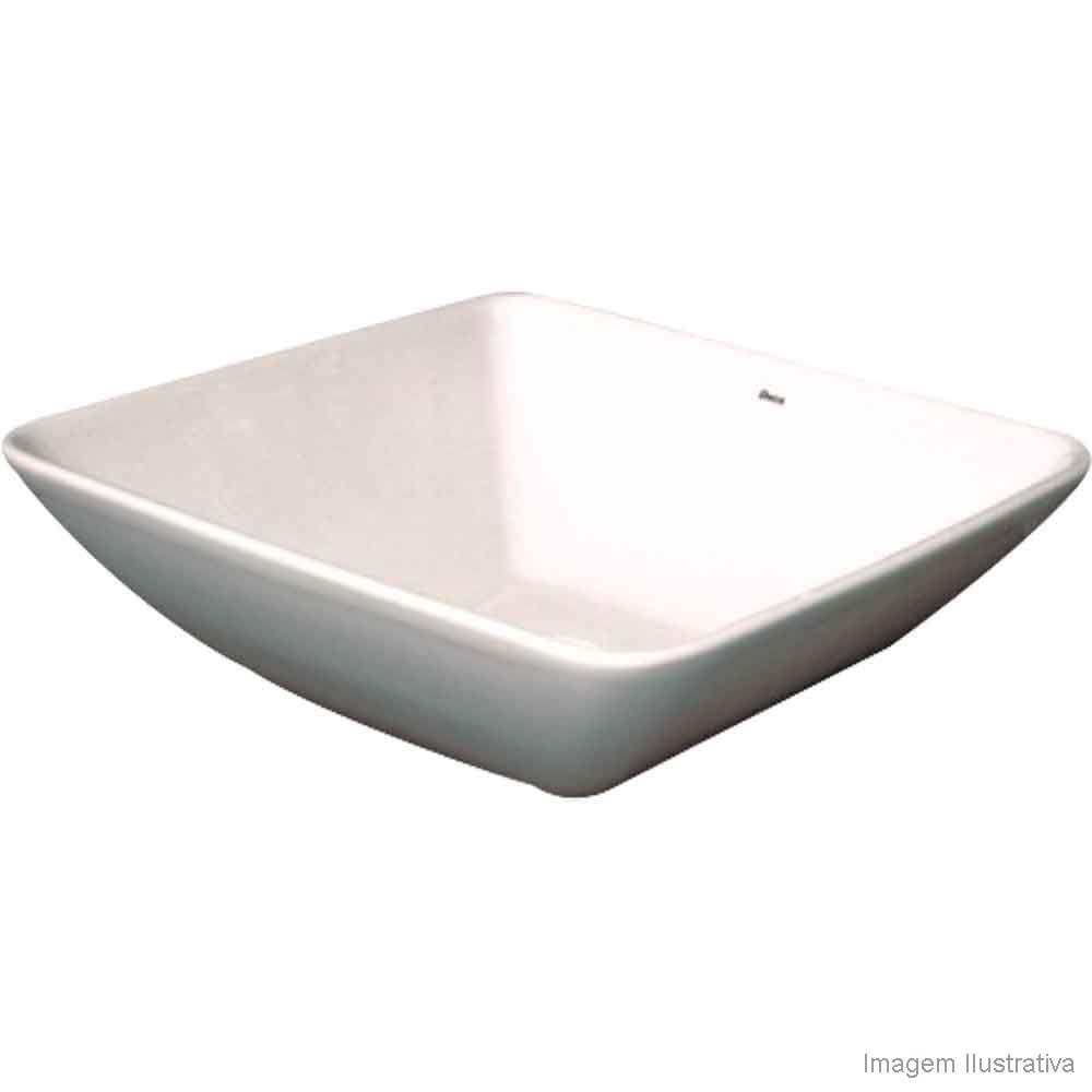 Cuba para banheiro de apoio quadrada 40x40cm L1037 gelo Deca  Telhanorte -> Cuba Banheiro Celite