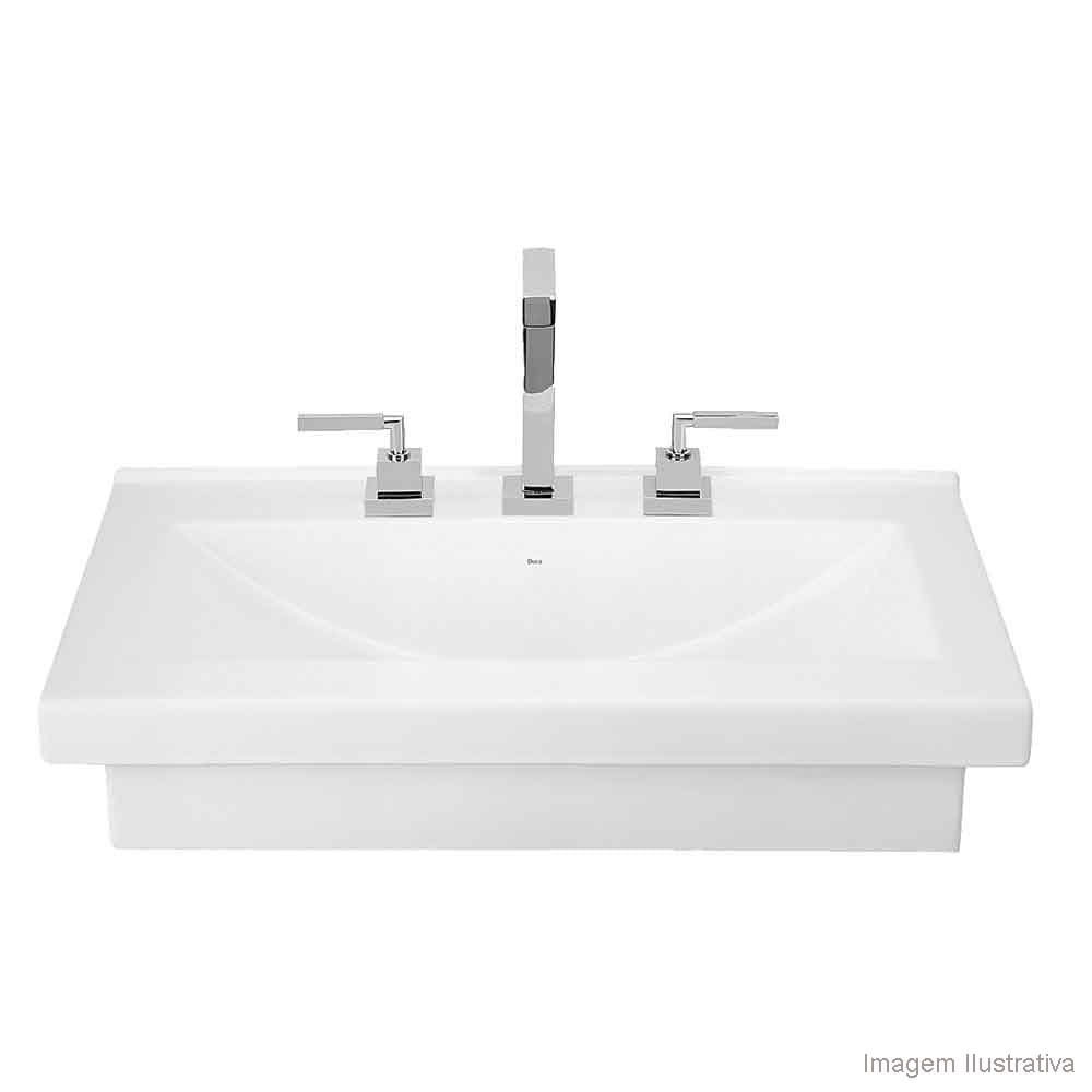 Cuba para banheiro de apoio ou sobrepor retangular 70x45cm L94 gelo Deca  Te -> Cuba Para Banheiro Suspensa Retangular Multiuso Gelo Deca