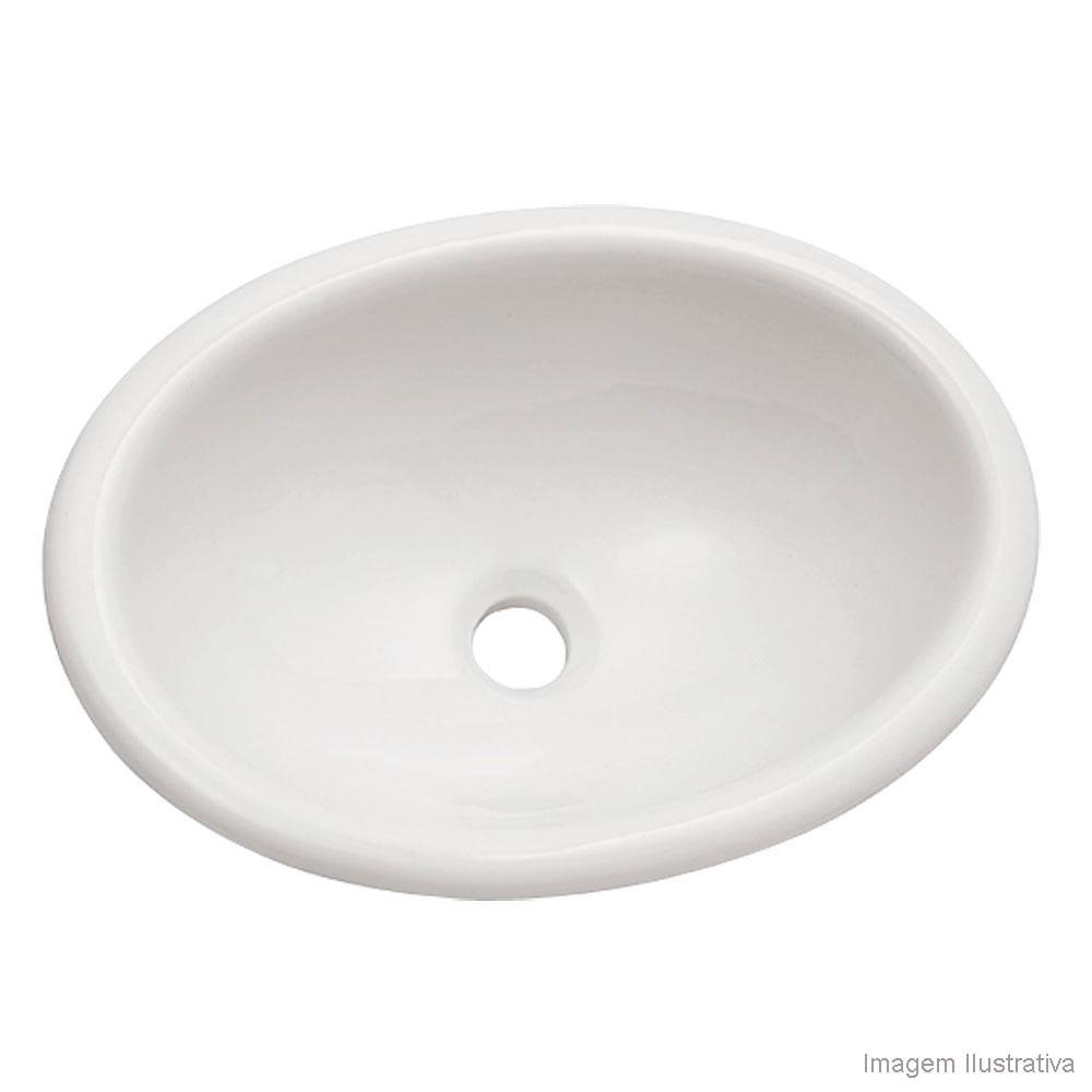 Cuba para banheiro de sobrepor oval branca Icasa  Telhanorte -> Cuba Para Banheiro De Sobrepor Oval Branca Icasa