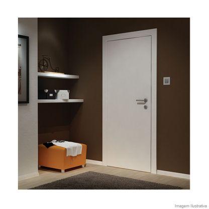 Folha de porta lisa de madeira 210x82x3,2cm primer com borda Vert