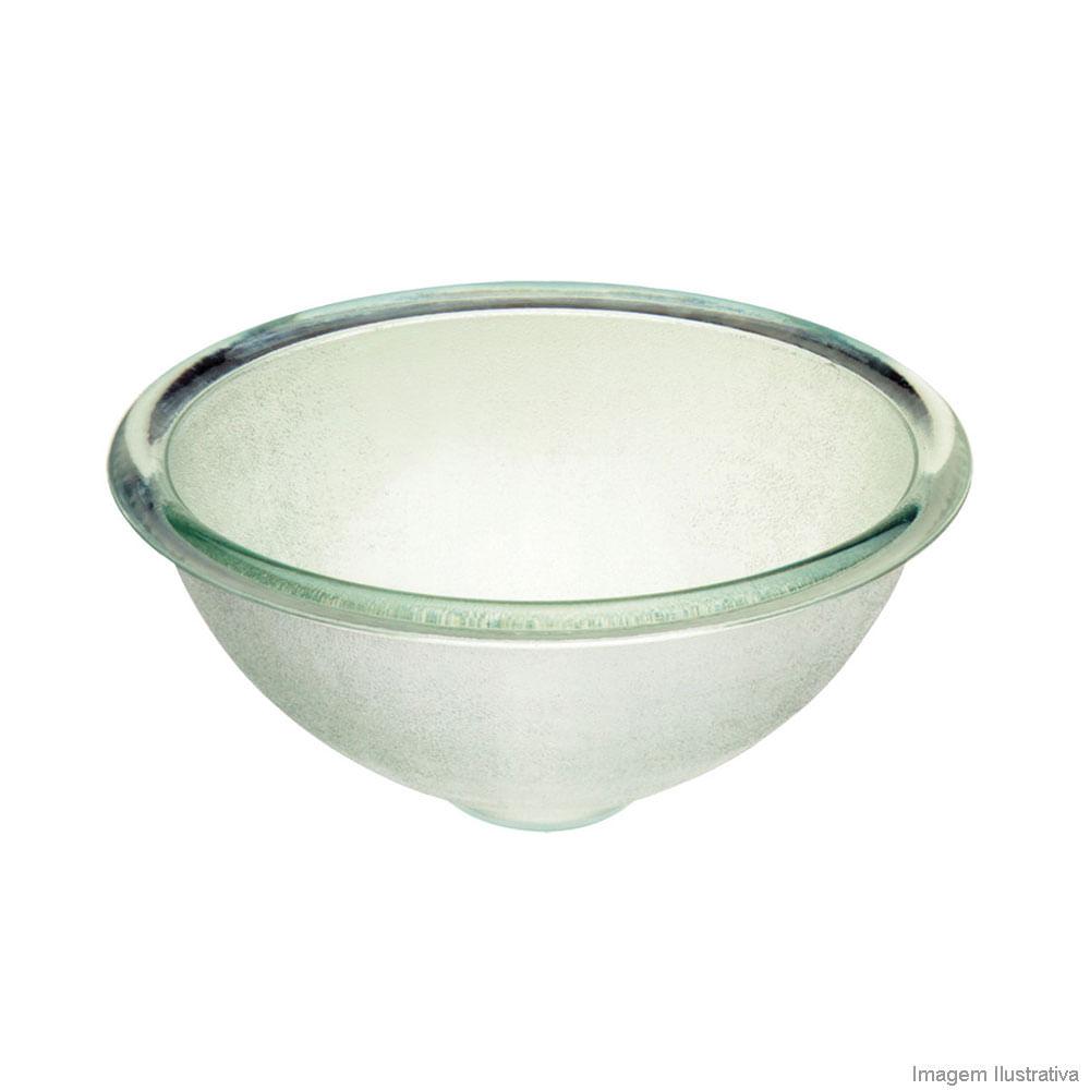 Cuba para banheiro de apoio redonda em vidro 27,6cm incolor Cris Metal  Telh -> Cuba De Vidro Para Banheiro Telha Norte