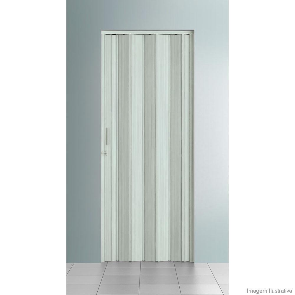 Porta Sanfonada De Pvc 210x84cm Com Trinco Bianco Patina Bcf  ~ Porta Sanfonada Para Cozinha