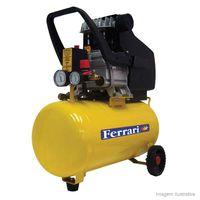 Compressor-de-ar-Mega-Turbo-24-litros-Bivolt-amarelo-e-preto-Ferrari