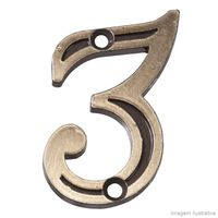 Numero-3-para-Apartamento-de-zamac-latonado-oxidado-Uniao-Mundial