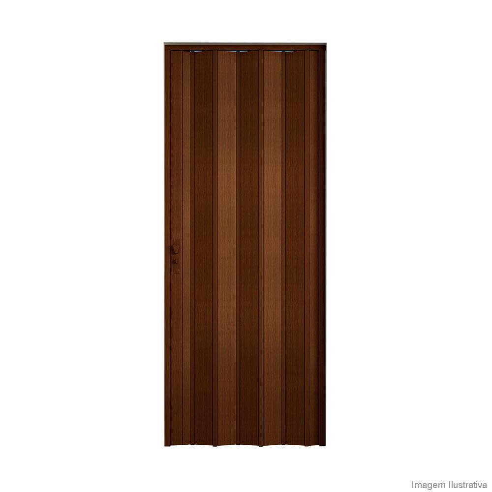 Porta Sanfonada De Pvc Plast 210x96cm Com Fechadura Imbuia Bcf  ~ Porta Sanfonada Para Cozinha