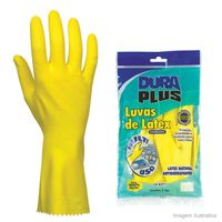 Luva-de-latex-Forrada-tamanho-P-amarela-Dura-Plus