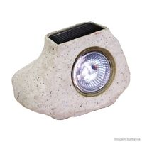 Luminaria-Solar-Balizadora-tipo-Pedra-3W-branca-Keywest