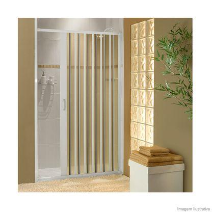 Porta sanfonada de PVC para box 185x130cm branca BCF