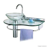 Lavabo-Cris-Glass-977-70x45cm-com-cuba-agua-marinha-Cris-Metal