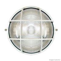Tartaruga-circular-com-grade-branca-para-1-lampada-Home-Line