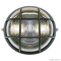 Tartaruga-circular-com-grade-preta-para-1-lampada-Home-Line
