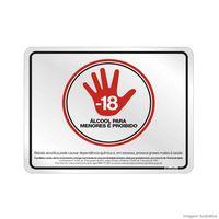 Placa-25x20cm-Proibido-a-venda-de-bebida-para-menores-de-18-anos-preto-e-vermelho-Sinalize