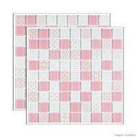 Pastilha-de-vidro-Patchwork-placa-292x292cm-rosa-e-branco-Glass-Mosaic