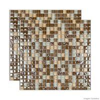 Pastilha-de-vidro-Galliano-placa-31x31cm-marrom-Glass-Mosaic