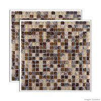Pastilha-de-vidro-Glass-Stone-placa-31x31cm-marrom-Glass-Mosaic