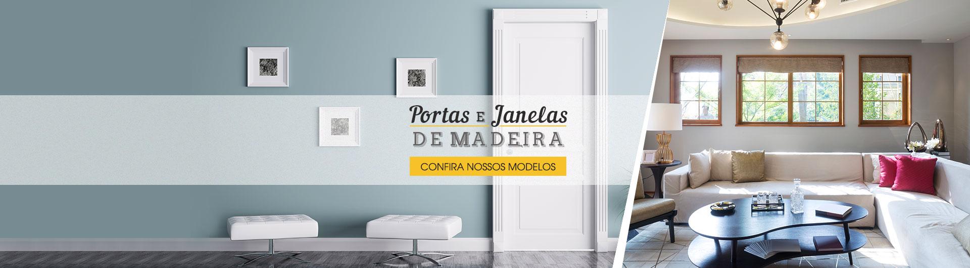 Banner -  Portas e Janelas de Madeira