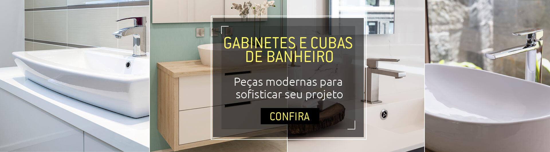 Banner - Gabinetes e Cubas de Banheiro
