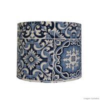 Cupula-de-tecido-Azulejo-28x22cm-azul-LS-Ilumina