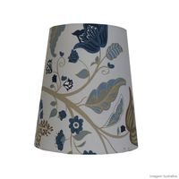 Cupula-de-tecido-IKM-Arabesco-Floral-26x23x17cm-azul-LS-Ilumina