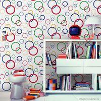 Papel-de-parede-circulos-multicor-Casa-Bella-53cm-x-10m-Muresco