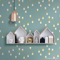 Papel-de-parede-mini-geometrico-amarelo-e-verde-Picnic-vinilico-53cm-x-10m-Muresco