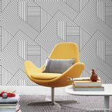 Papel-de-parede-geometrico-cru-e-preto-Picnic-vinilico-53cm-x-10m-Muresco