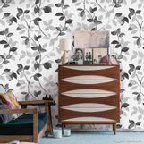 Papel-de-parede-folhagem-preto-prata-e-branco-Allegra-53cm-x-10m-Muresco