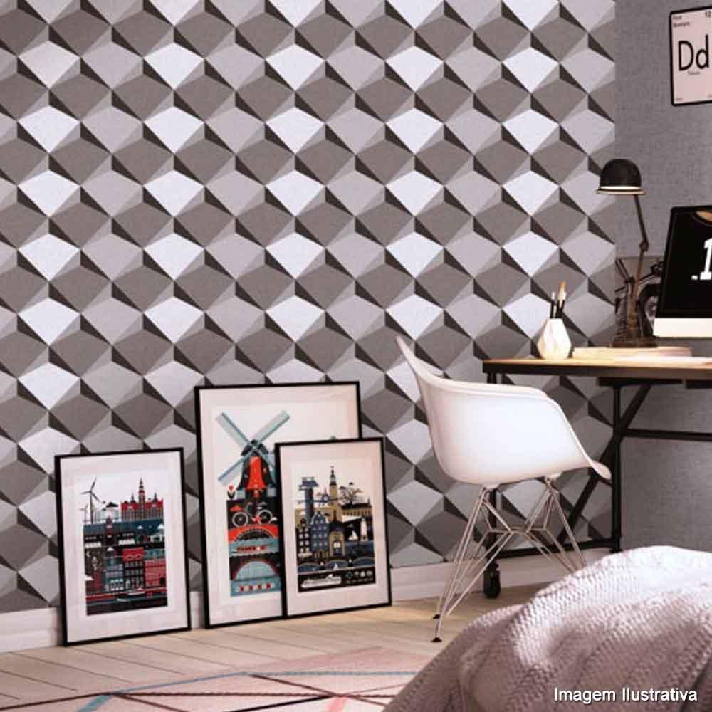 Papel de parede para quarto cinza - Papel pared ...