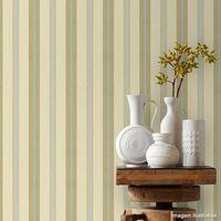 Papel-de-parede-listrado-bege-marrom-e-azul-Casa-Bella-vinilizado-53cm-x-10m-Muresco
