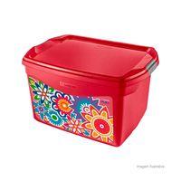 Caixa-organizadora-media-Color-29-litros-vermelha-Sanremo