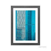 Quadro-decorativo-Vibrante-Blue-II-28x38cm-cinza-Infinity