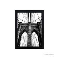 Quadro-decorativo-Brooklyn-Bridge-28x38cm-preto-Infinity