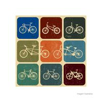 Placa-decorativa-Bike-Colection-20x20cm-Infinity