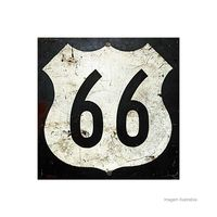 Placa-decorativa-Route-66-I-20x20cm-Infinity