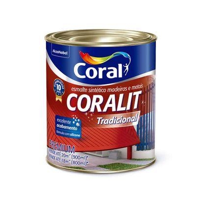 Esmalte sintético Coralit acetinado 900ml platina Coral
