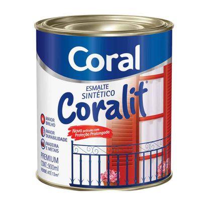 Esmalte sintético Coralit brilhante 900ml marrom conhaque Coral