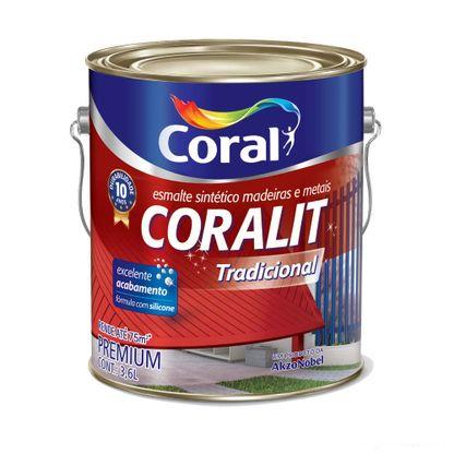 Esmalte sintético Coralit Tradicional brilhante 3,6L cinza médio Coral