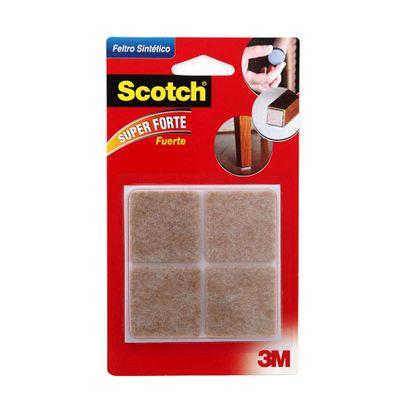 Feltro para móveis leves quadrado grande 4 unidades marrom 3M Scotch®