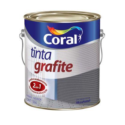 Esmalte 3,6 litros grafite escuro Coral
