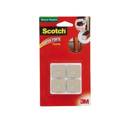 Feltro para móveis pesados quadrado 8 unidades marrom 3M Scotch®