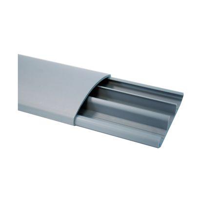 Canaleta para piso HellermannTyton com adesivo 7,5x1,7x200cm cinza