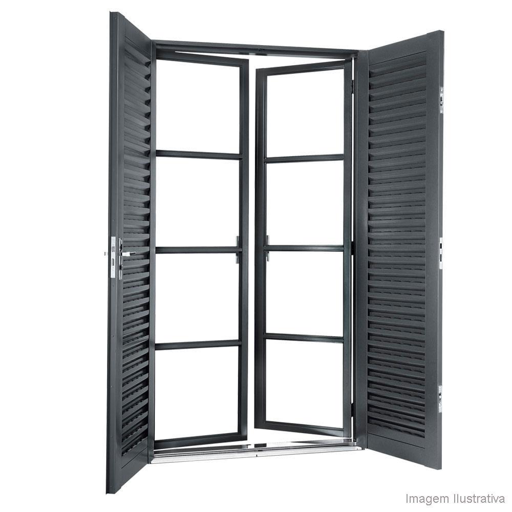 Janela porta balc o sasazaki de abrir 4 folhas 210x120cm for O que e porta balcao