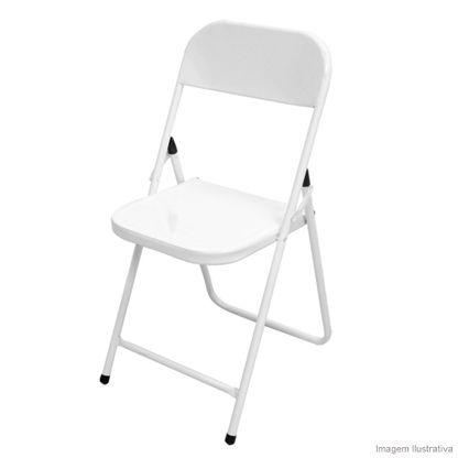 Cadeira dobrável Ásia branca Metalmix
