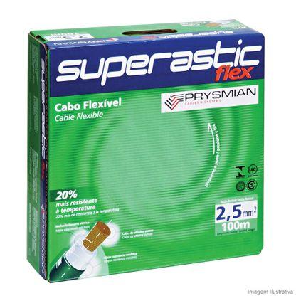 Cabo Superastic Flex 2,5mm 750V 100m cinza Prysmian