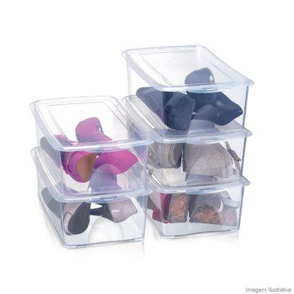 Conjunto caixa box Pratic para sapatos embalagem econômica 5 peças 1816 Arthi