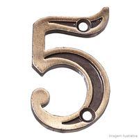 Numero-5-para-Apartamento-de-zamac-latonado-oxidado-Uniao-Mundial