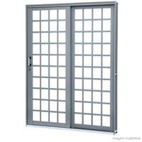 Porta-de-correr-direita-de-aco-2-folhas-Lateral-Quadrada-213x160x13cm-grafite-Lucasa-Premium