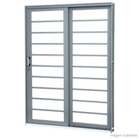 Porta-de-correr-direita-de-aco-2-folhas-Lateral-213x160x13cm-grafite-Lucasa-Premium