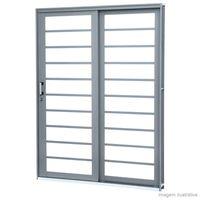 Porta-de-correr-esquerda-de-aco-2-folhas-Lateral-213x160x13cm-grafite-Lucasa-Premium