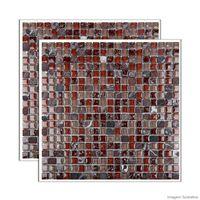Pastilha-de-vidro-Glass-Stone-placa-31x31cm-marrom-e-begeGlass-Mosaic